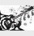 splatter guitar vector image vector image