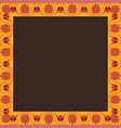 square frame with greek palmetta ornament vector image vector image