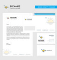 sunset business letterhead envelope and visiting vector image vector image