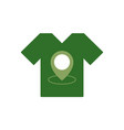 t-shirt store location icon map pointer tee vector image