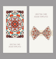 templates for greeting and business cards vector image vector image