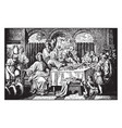 the marriage feast at cana - jesus turns water vector image vector image