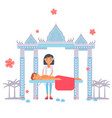 traditional oriental asian massage relaxing vector image vector image