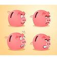 various expression of piggybank vector image vector image
