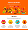 web design happy thanksgiving vector image vector image