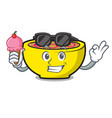 with ice cream soup union character cartoon vector image