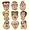 cartoon people vector image