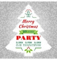 Christmas holidays flyer or poster design vector image