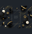 abstract background with black geometric shape vector image vector image