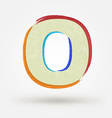 Alphabet letter O Watercolor paint design element vector image vector image