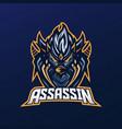 assassin mascot logo vector image vector image