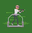 Augmented reality man with aim controller on