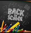 back to school with school supplies and doodles vector image vector image