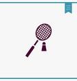 badminton icon simple vector image vector image