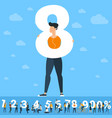 big eight number vector image vector image