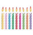 birthday candles vector image vector image