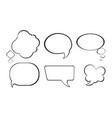 bubble comic speech set vector image