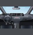car auto salon interior vector image