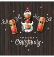 Christmas characters Santa Claus and reindeer vector image vector image