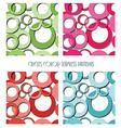 circles seamless patterns set vector image vector image