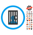 closed prisoner icon with lovely bonus vector image