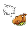 cooked turkey-100 vector image vector image