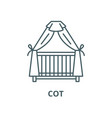 cot line icon linear concept outline sign vector image vector image