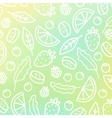 Doodle fruit background vector image