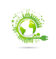 ecology concept with green city for world