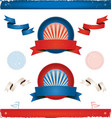 elections in usa - ribbons and banners vector image vector image