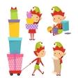 Elf helpers set vector image