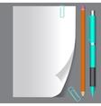 Empty paper sheet EPS10 vector image vector image
