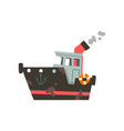fishing industrial trawler for seafood production vector image vector image
