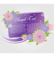 floral cards templates vector image