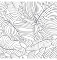 floral leaves seamless pattern foliage garden vector image vector image