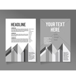 flyer brochure design template abstract vector image