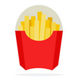 french fries in package vector image