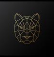 golden geometric tiger head vector image vector image