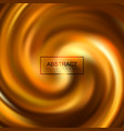 golden swirling caramel whirlpool vector image