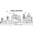 greece santorini line skyline vector image