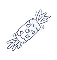 handdrawn doodle candy icon hand drawn sweet candy vector image