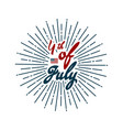 happy 4th of july independence day hand drawn vector image