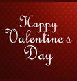 happy valentines day typographic and red pattern vector image