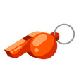icon referee whistle in flat style vector image