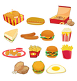 junk food on white vector image vector image