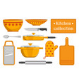 kitchen collection sketches of kitchen appliance vector image vector image