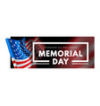 memorial day with waving flag vector image vector image