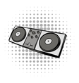Mixing console black comics icon vector image vector image