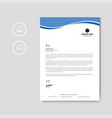 modern blue wave business letterhead layout vector image vector image