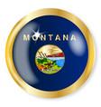 montana flag button vector image vector image